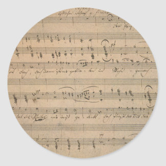 Vintage Sheet Music, Song of the Old Man, 1822 Round Sticker