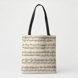 Vintage Sheet Music Tote Bag