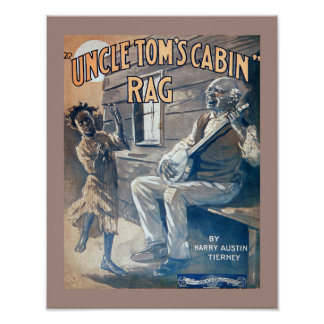 Vintage Sheet Music Uncle Tom's Cabin Rag copy Poster