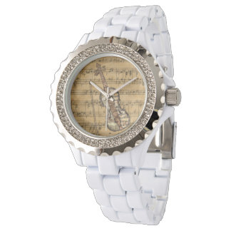 Vintage Sheet Music Violin Watch