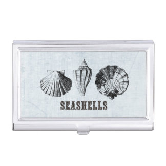 Vintage Shells Trio Business Card Holder