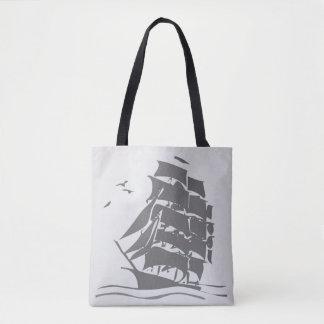 Vintage Ship, All Over Print Tote Bag