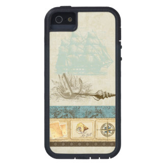 Vintage Ship Anchor Map Compass Rose n Shells Mens iPhone 5 Cases