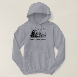 Vintage Ship and Travel By Rail Hoodie