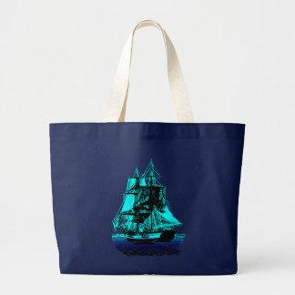 Vintage Ship Large Tote Bag