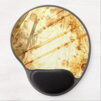 Vintage Ship Ocean Amber Earth Tone Caramel Gel Mouse Pad