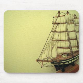 Vintage Ship Photo Mouse Pad