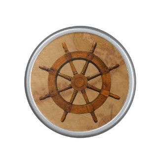 Vintage Ship Wheel Speaker