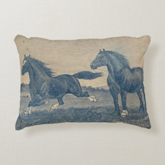 Vintage Shire Cleveland bay horse pillow