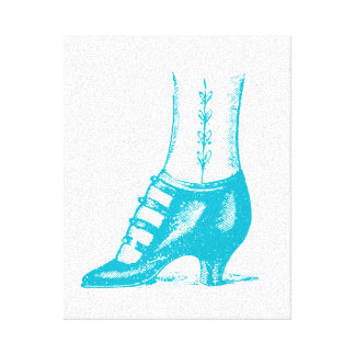 Vintage Shoe Gallery Wrapped Canvas