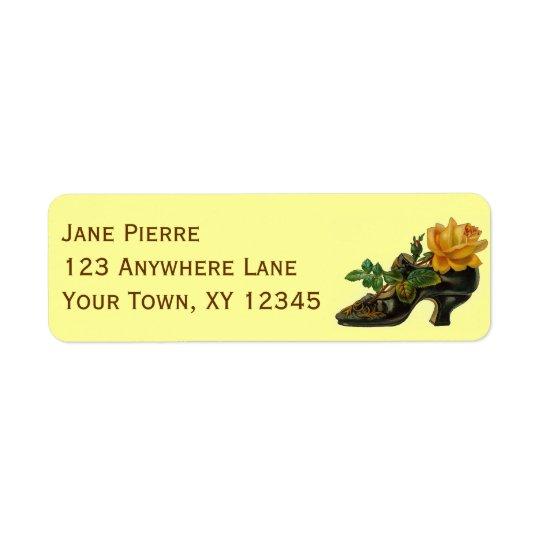 Vintage Shoe Return Address Label