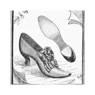 Vintage Shoes Stretched Canvas Print