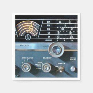 Vintage Short Wave Radio Receiver Paper Napkin