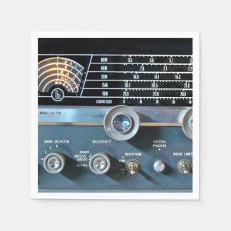 Vintage Short Wave Radio Receiver Paper Napkins