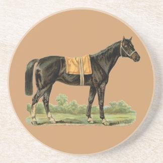 Vintage Show Horse Sandstone Drink Coaster