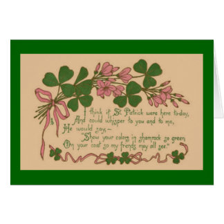 Vintage Show Your Shamrock St. Patrick's Day Greeting Card