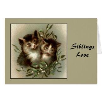 Vintage Sibling Love Greeting Card