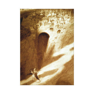 Vintage Sidney Sime The City of Never Canvas Print