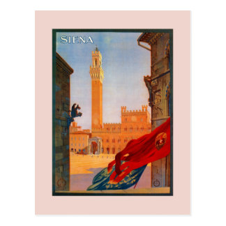 Vintage Siena Italian travel advertising Postcard