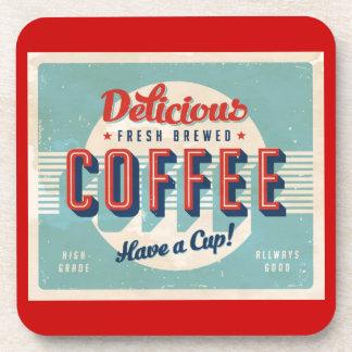 Vintage sign - Fresh Brewed Coffee Drink Coasters