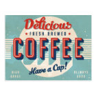 Vintage sign - Fresh Brewed Coffee Postcard