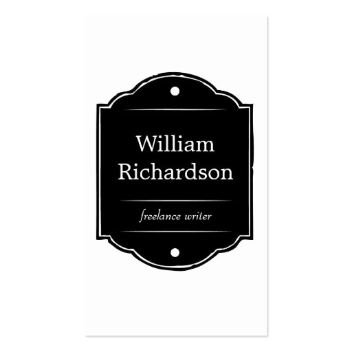 VINTAGE SIGN LOGO in BLACK & WHITE Business Card Templates ...