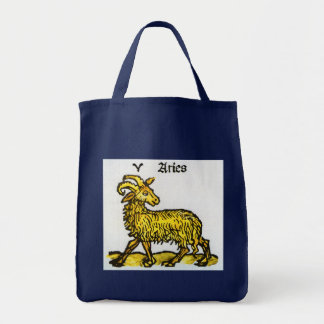 Vintage Signs of the Zodiac, Aries the Ram Tote Bag