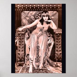 Vintage Silent Film Vamp Poster