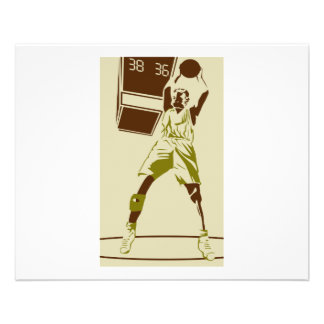 vintage silhouette basketball player design 11.5 cm x 14 cm flyer