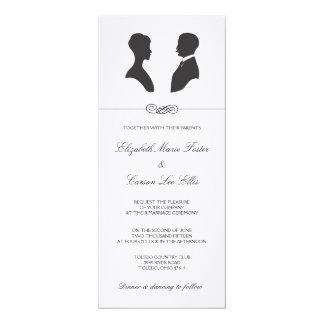 Vintage Silhouette Wedding Card