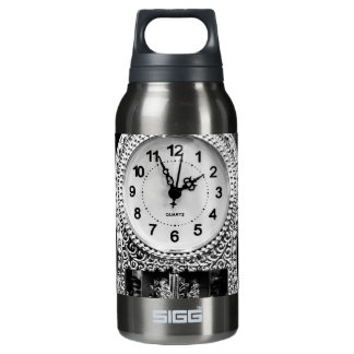 Vintage Silver Clock Insulated Water Bottle