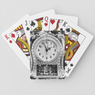 Vintage Silver Clock Playing Cards