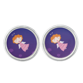 Vintage silver Cufflinks with Angel girl