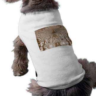 Vintage Silver Graphic - Cave Style Art Patterns Sleeveless Dog Shirt