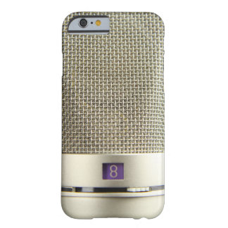 Vintage Silver Microphone Audiophile Barely There iPhone 6 Case