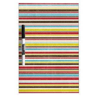 Vintage Simple Color  Paper Horizontal Stripe Dry Erase Whiteboards