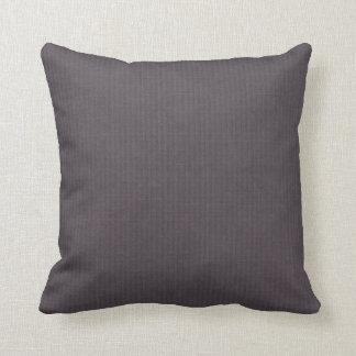 Vintage simple purple aubergine linen look deco cushion
