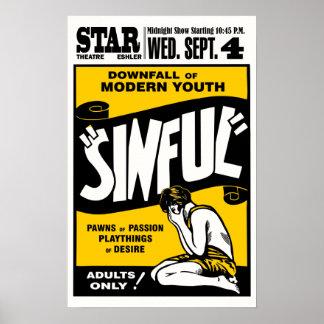 "Vintage ""Sinful"" Movie Poster"