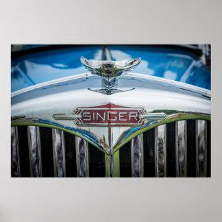 Vintage Singer Car Poster