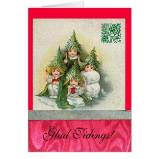 Vintage Singing Tree Choir Card