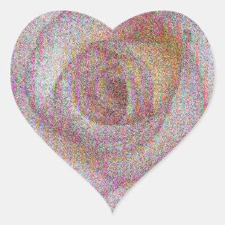 Vintage Single Pink Rose Heart Sticker
