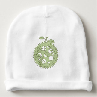 Vintage Single Ring Crank Hops Drawing Baby Beanie
