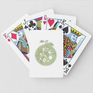 Vintage Single Ring Crank Hops Drawing Poker Deck