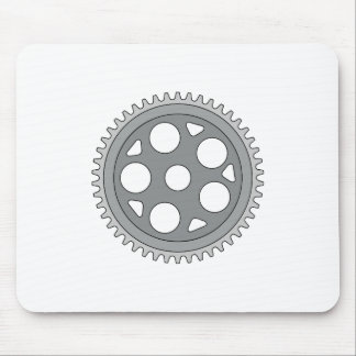 Vintage Single Ring Crank Retro Mouse Pad