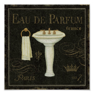 Vintage Sink and Towel Poster