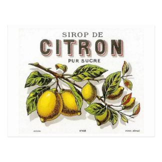 Vintage Sirop de Citron Ad Postcard