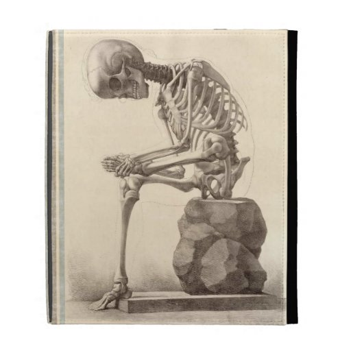 Vintage Sitting Skeleton iPad Folio Covers