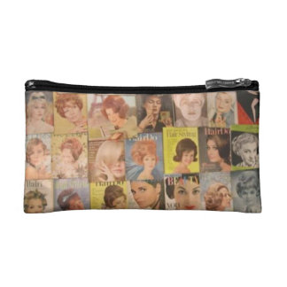 Vintage Sixties Beauty Collage Cosmetics Bag