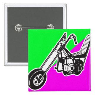 Vintage Sixties Mini Bike Chopper 15 Cm Square Badge