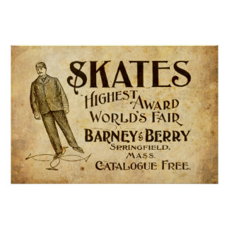 Vintage Skates Ad from 1899 Poster